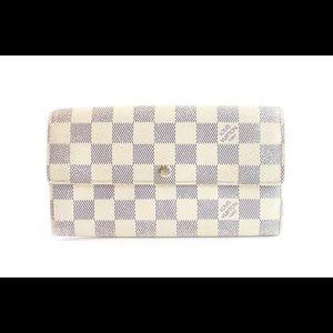 Louis Vuitton  Damier Azur Bifold Sarah Wallet